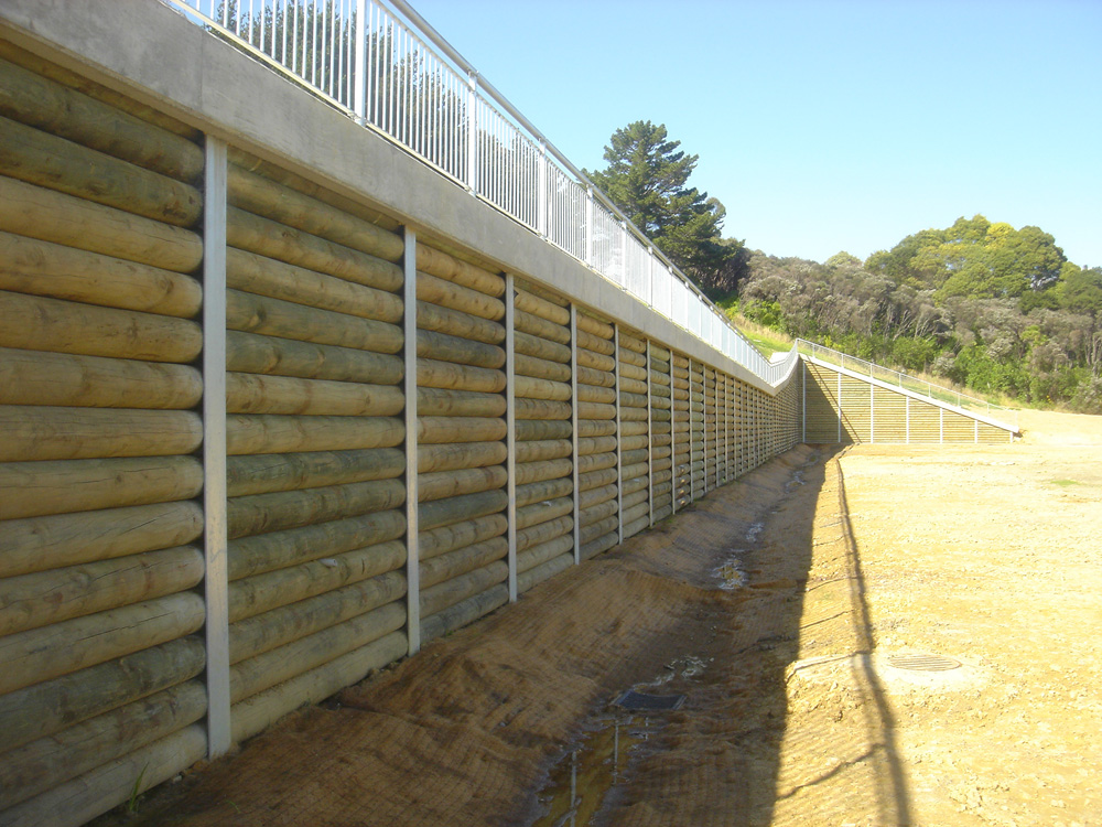 Steel Retaining Structures : Retaining wall builders auckland ground structures